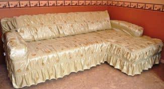 покрывало для дивана углового