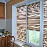 рулонные шторы на пластиковые окна на кухню