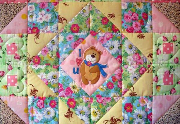 красивое детское одеяло
