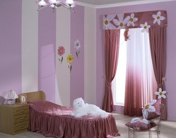 оформление штор для девочек