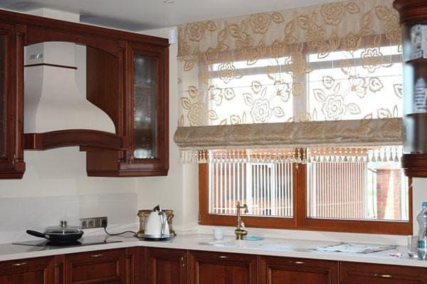кухонные римские шторы