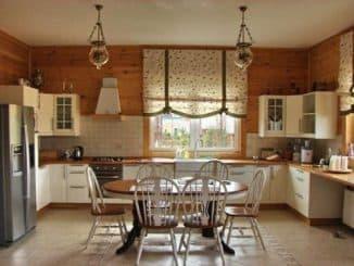занавески для окна на кухне
