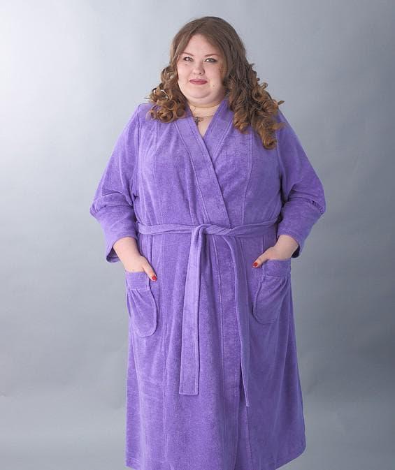 махровый халат большого размера