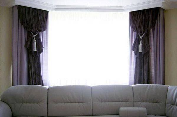 занавески для зала в стиле модерн