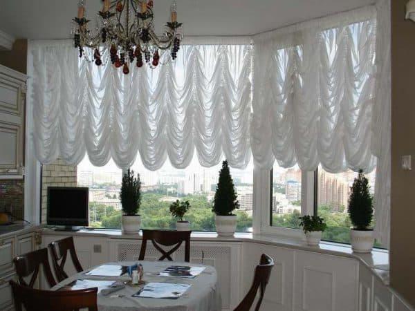 французские кухонные шторы
