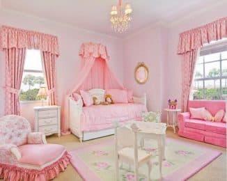 шторы в девичью спальню