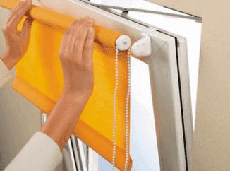 шторы рулонные без сверления