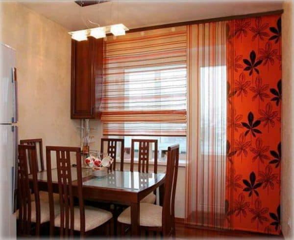 японские кухонные шторы