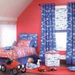 Шторы для детской комнаты мальчика: выбор фасона и принципы оформления окон