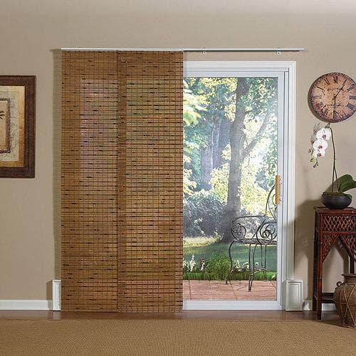 бамбуковые римские шторы в дверной проём