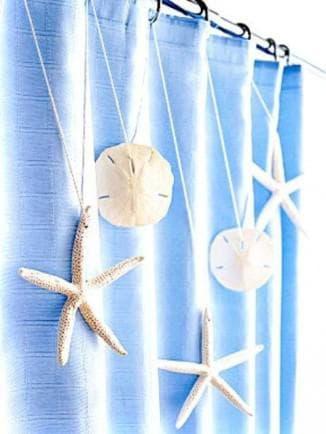 шторы в морском стиле с элементами декора