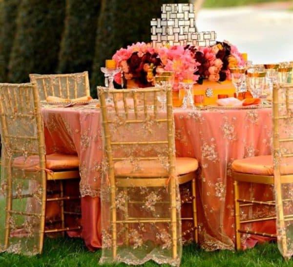 накидка на свадебный стул
