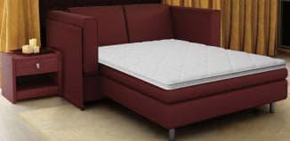 тонкий матрас на кровать белого цвета