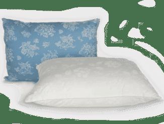 прекрасные бамбуковые подушки в белым наволочках