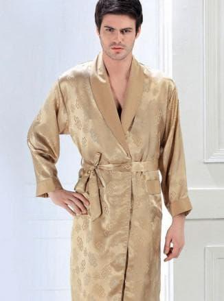 мужской шёлковый халат