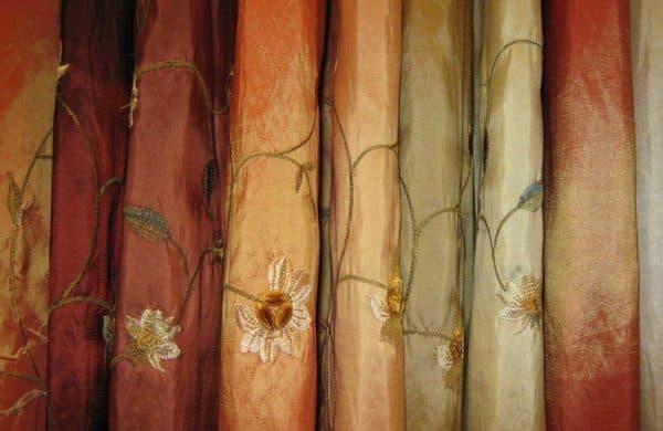 разнообразие штор из тафты