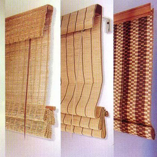 виды римских штор из бамбука