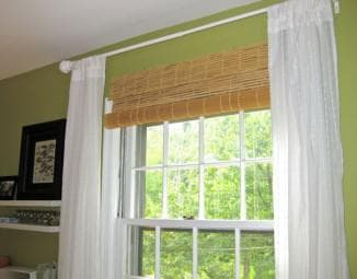 замеры бамбуковых штор на месте