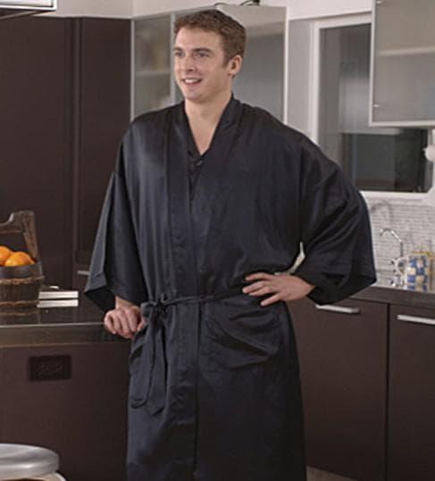 мужской шёлковый халат Silkline