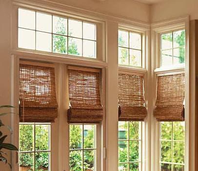 бамбуковые шторы в стиле хай-тек