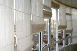 римские шторы на балкон по кругу