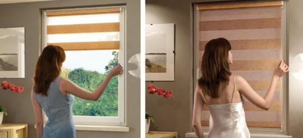 тканевые рулонные шторы на окна