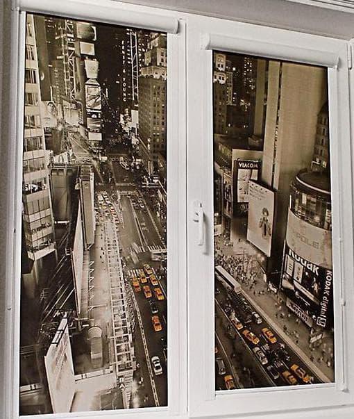 тканевые рулонные шторы лучше всего устанавливать на само окно