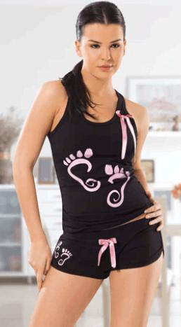женская тонкая футболка для сна