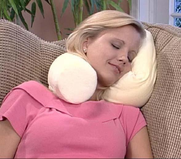 ортопедическая подушка с двумя валиками