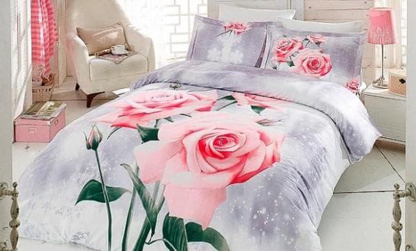 постельное бельё с цветами для взрослых