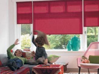 тканевые рулонные шторы не собирают пыль