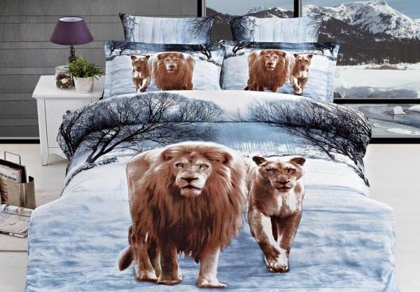 постельное бельё с животными принтами