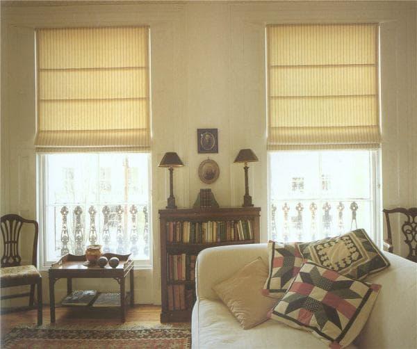 классические римские рулонные шторы