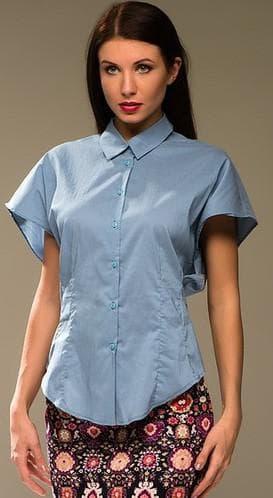 женская рубашка с укороченными рукавами