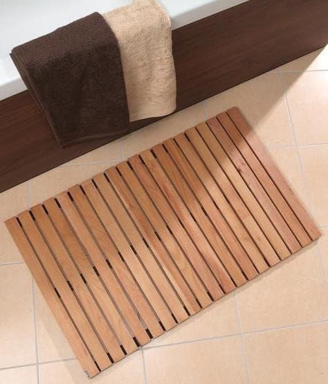 деревянные коврики для ванной комнаты