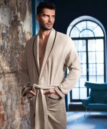 хлопковый мужской халат