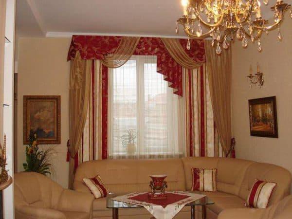 классические шторы с ламбреконом