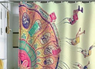 особенности тканевых штор для ванной