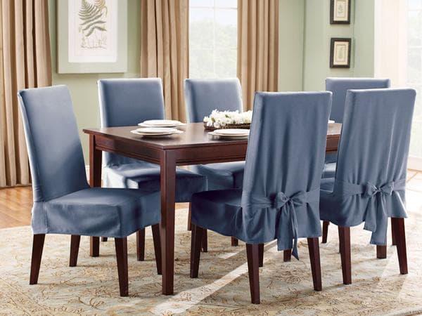 чехол на стул из мебельной ткани