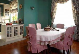 описание чехлов на стулья для кухни