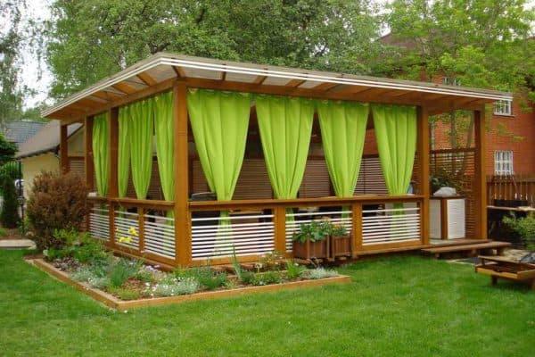 тканевые шторы для веранды