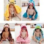 детское пляжное полотенце с капюшоном