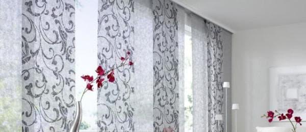 японские шторы в леруа мерлен для гостинной