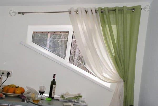 шторы на люверсах на кухню