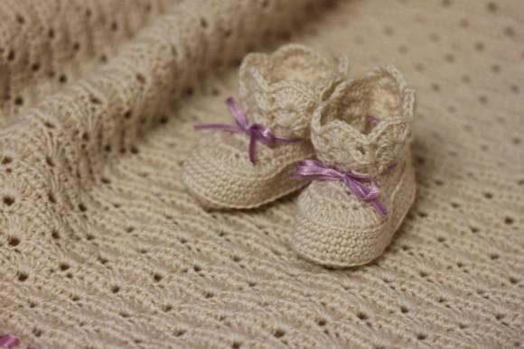 трикотажные пледы на выписку для новорожденных