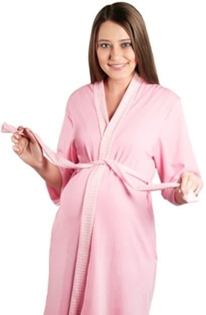 халат для беременной с коротким руковом