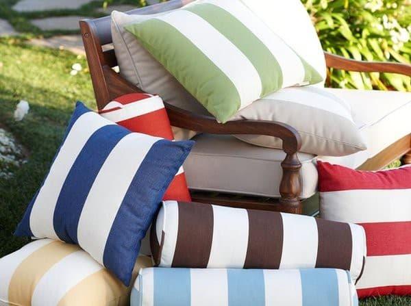 ткани для подушки для садовой мебели разной фактуры