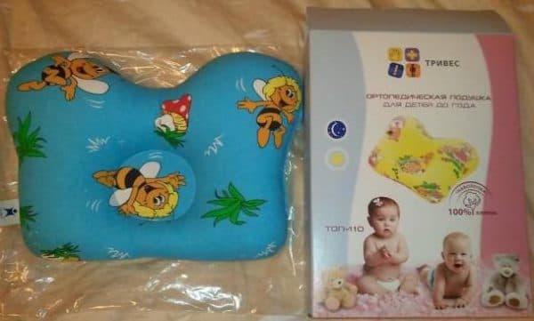 ортопедическая подушка для детей Тривес