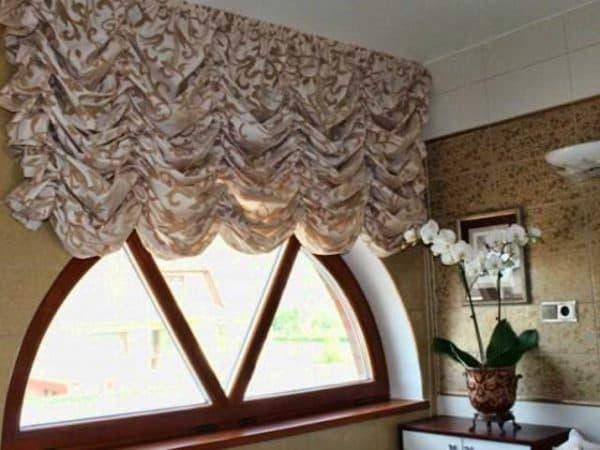французские шторы на маленькие окна