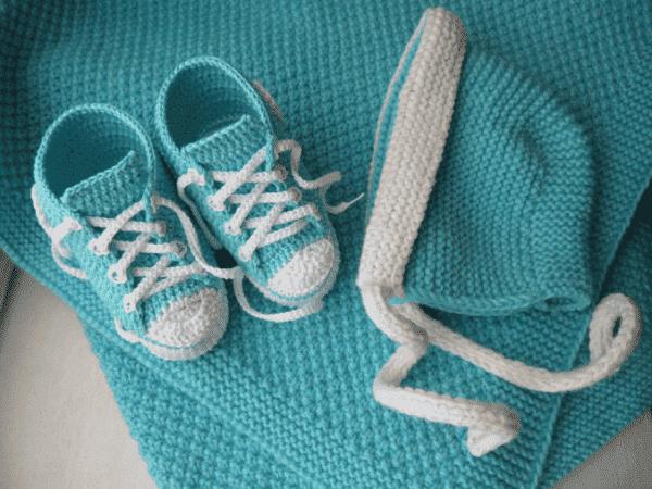 вязаные пледы на выписку для новорожденных